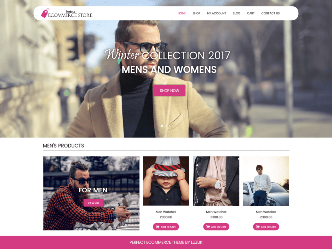 Perfect Ecommerce Wordpress Theme - Luzuk