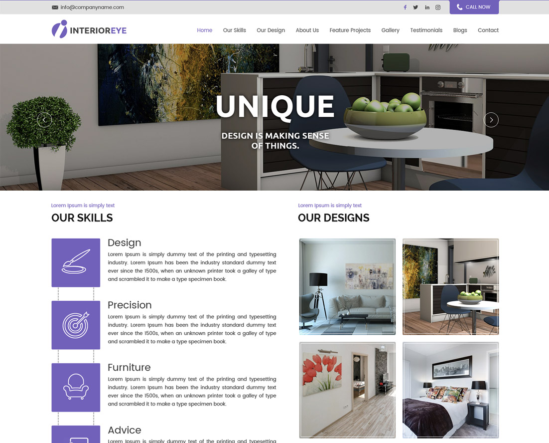 Lz interior decor pro luzuk for Interior design wordpress theme