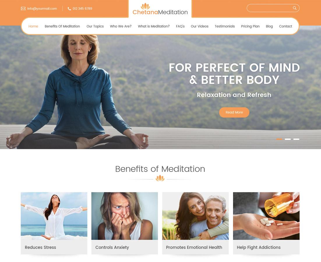 Best Responsive Free Meditation Yoga Wordpress Theme