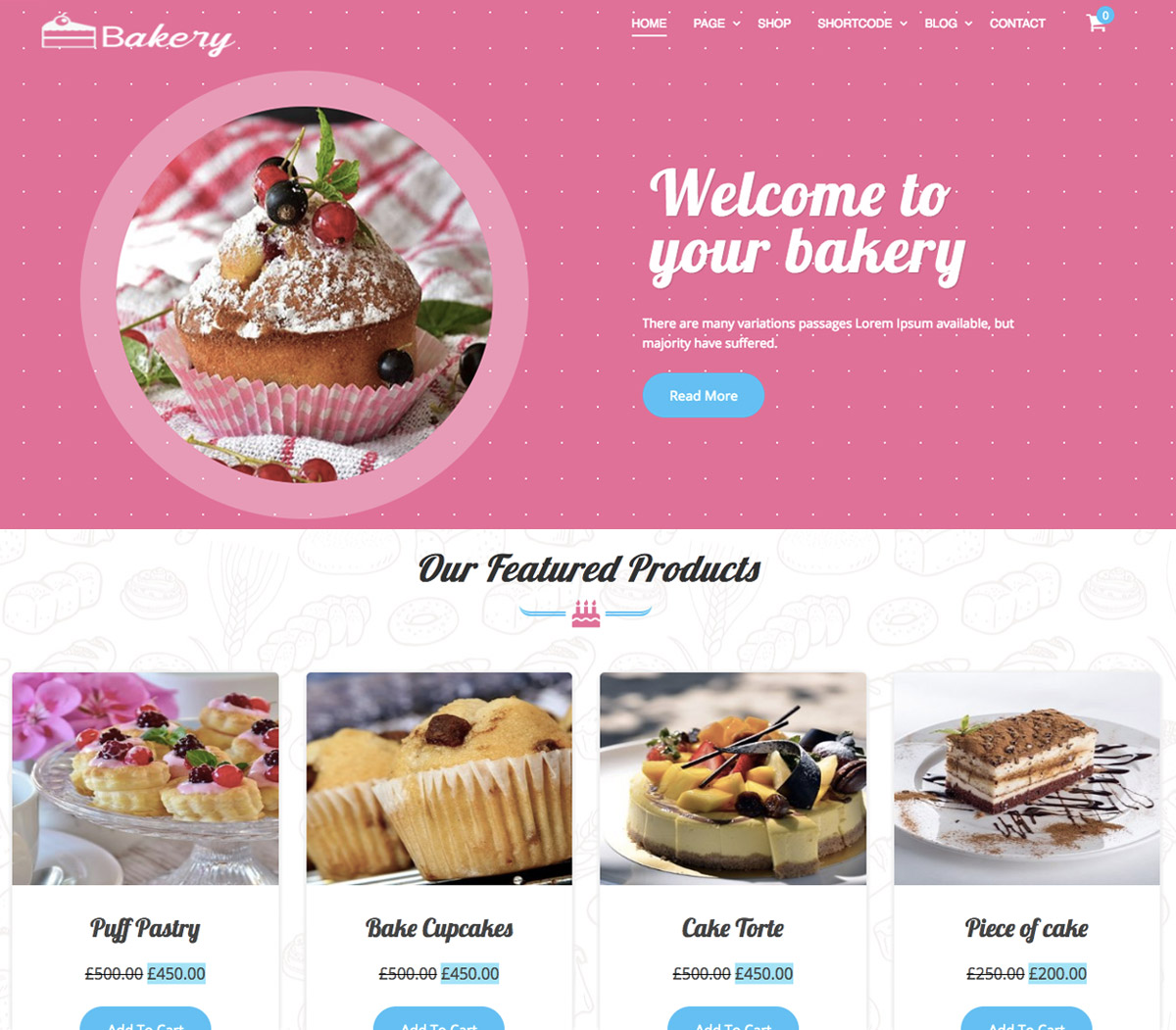 Best Free Bakery WordPress Theme for Bakers & Cake Shops