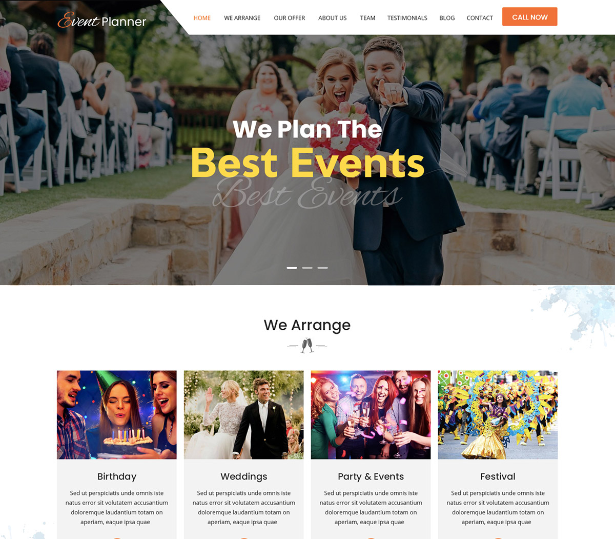 Event Planner WordPress Theme for Event Business