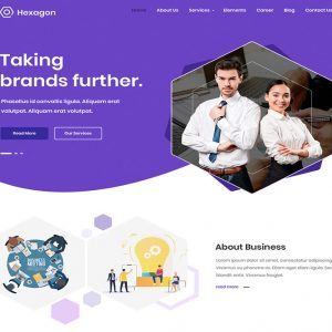 Hexagon business wordpress theme