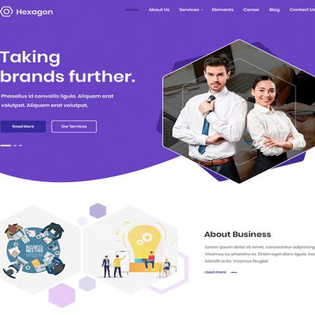 Hexagon business wordpress theme