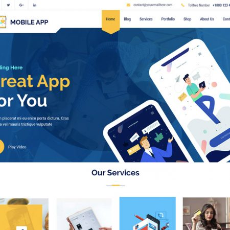 Multi Mobile App Wordpress Theme