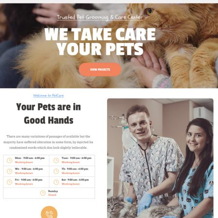 Pet Care Clinic Wordpress Theme