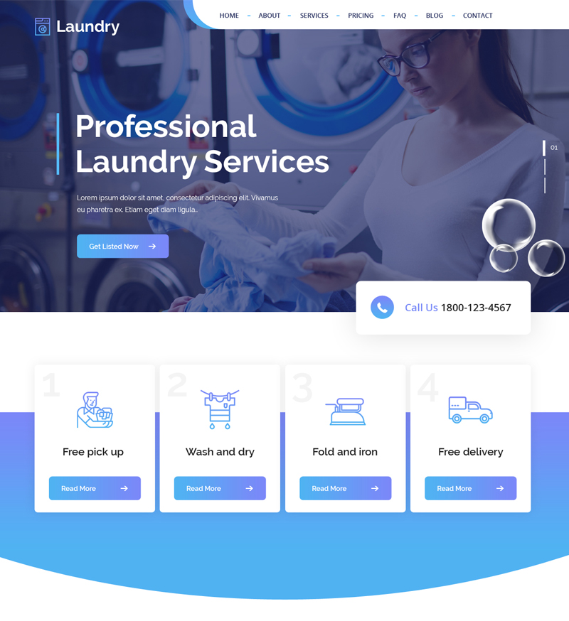 Laundry Wordpress Theme