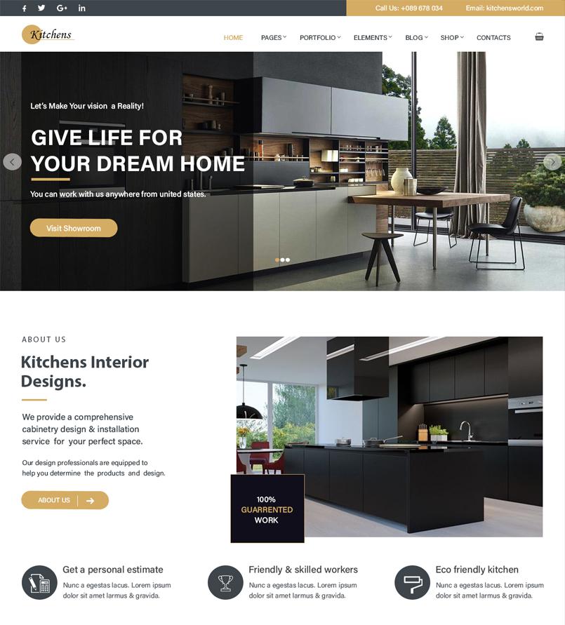 Kitchen Decor Wordpress Theme